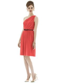 Alfred Sung D652 in firecracker. Here Comes the Bridesmaid NYC/search store's website for discount