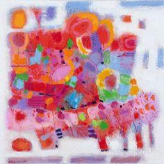 Spring Landscape, Hashim Hannoon. Acrylic (24x24 in) 2012