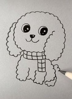 puppy drawing easy cute * puppy drawing easy _ puppy drawing easy step by step _ puppy drawing easy for kids _ puppy drawing easy cute _ puppy drawing easy cartoon dog Cartoon Dog Drawing, Cute Cartoon Drawings, Easy Drawings For Kids, Cool Art Drawings, Cute Animal Drawings, Kawaii Drawings, Sketching For Kids, Easy Drawings Of Animals, Drawing Ideas