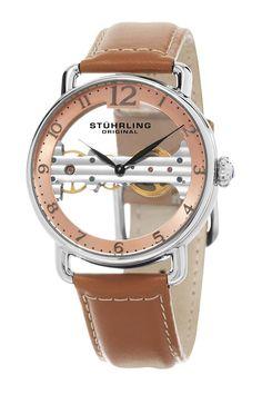 Stuhrling Men's Bridge Mechanical Watch save -82% today - bit.ly/pin1spycob2 track fashion deals #watch #mens #nordstromrack