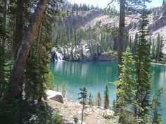 Middle Cramer Lake Sawtooth Mtns. ID - I jumped off that waterfall!