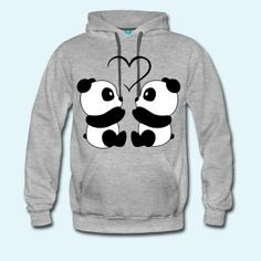 Panda Love - Men's Premium Hoodie