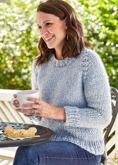 Knitting Patterns Galore - Top Down Raglan Knitting Patterns Free, Free Knitting, Free Pattern, Sweater Patterns, Top Down, Aran Weight Yarn, Circular Needles, Yarn Brands, Acrylic Wool