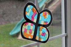 Frills Fluff and Trucks: Butterfly Stained Glass Craft Tutorial