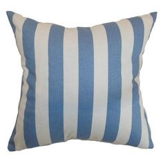 The Pillow Collection Ilaam Stripes Pillow Baby Blue - P18-PP-CANOPY-BABYBLUE-C100