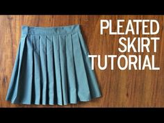 HOW TO: PLEATED SKIRT - YouTube