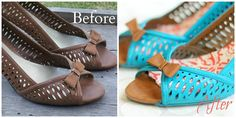 Never thought of this! Up-cycle your old/ thrifted shoes. Try-it Tuesday: How to Spray Paint Shoes