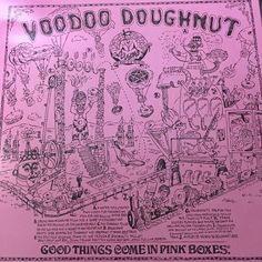Voodoo Donuts! The best things come in pink boxes.