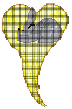 MLP Derpy Hooves Heart perler bead pattern by indidolph on deviantART