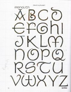 hand lettering typography alphabet - Google Search