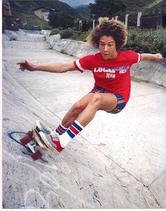 Skateboarding with Tony Alva forLogan Earth Ski Boards!