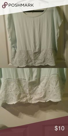 Mint Green Detailed Top Great Condition, Worn Once Maison Jules Tops Blouses