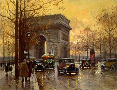 Triumphal Arch - Edouard Cortes A piece of Art, within a piece of art!
