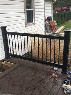 Lowe's Composite Deck by Tropics is a beautiful low-maintenance product that is easy to install. See our beautiful new tropics deck and instructions how to install yours! Deck Over, Deck Stairs, Composite Decking, Building A Deck, Deck Design, Patio, Backyard Decks, Lowes, Composition