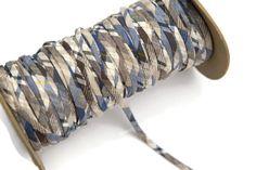 Blue Metallic Plaid Cotton Trim Spaghetti Straps by felinusfabrics