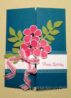 Lets drink a cup of tea card invitations pinterest teas suo sectret garden gate fold by cards and paper crafts at splitcoaststampers m4hsunfo