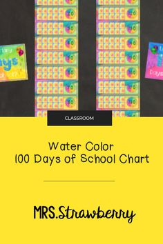 Count the first 100 days of school by writing a number in the square each day using this Water Color Counting 100 Days of School Chart. Start from 1 and count your way to 100! The First 100 Days, 100 Days Of School, Classroom Jobs, First Grade Classroom, Number Recognition Activities, 100 Chart, Phonics Activities, Help Teaching, 100th Day