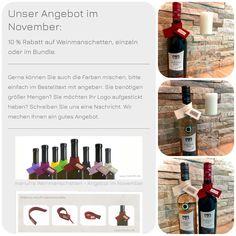 Unser November Angebot ist da 🍷 (unbezahlte Werbung) Wir tauchen ein in die kältere Jahreszeit. Weihnachten ist nicht mehr fern und wir freuen uns auf gemütliche Abende vor dem Kamin mit einem leckeren Glas Wein. Natürlich dürfen da die Weinmanschetten von manufra nicht fehlen.  Wie findet ihr die manufra Weinmanschetten ?  #wein #genuss #manufra #weinmanschette #weinflasche #nachhaltigkeit #mitbringsel #handmade #filz #nähenmachtglücklich #gemütlichkeit #ökologisch #fuhrmannburg November, Diving, Felt, Sustainability, Wine, Advertising, November Born