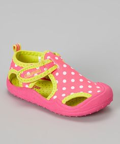 Love this Pink & Yellow Caspian Closed-Toe Sandal on #zulily! #zulilyfinds