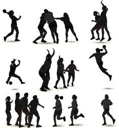 Vectores libres de derechos: Handball Silhouette