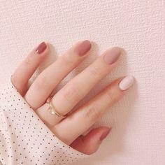 Acrylic Nails Natural, Natural Color Nails, Best Acrylic Nails, Natural Nail Art, Natural Nail Designs, Pink Gel, Purple Nail, Pink Nails, Stylish Nails