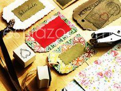 Etiquetas de scrap artesanales (tags/ luggage labels) - www.estilazo.com