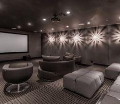 dRichards Interior Design Shoot contemporary-home-theater Home Theater Rooms, Home Theater Design, Home Theater Seating, Cinema Room, Room Wall Decor, Home Entertainment, Home Decor Inspiration, Design Inspiration, Design Ideas