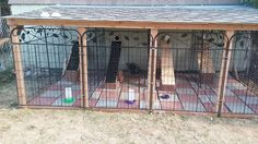 """Our rabbit barn.. 3x6' runs, cages inside with 4"""" pvc pipe into the cage... can be caped with lid to keep them inside in bad weather...we love it!"""