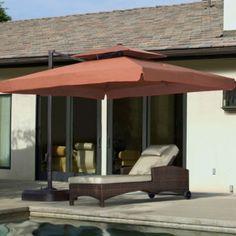 10 Ft Square Portofino II Offset Patio Umbrella. Only $609.00 FREE  Shipping. #patio