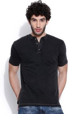 Dream of Glory inc. Solid Men's Henley T-Shirt - Buy Black Dream of Glory inc. Solid Men's Henley T-Shirt Online at Best Prices in India | Flipkart.com