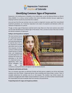 Depression is the leading cause of disability in the United States, as per the National Alliance on Mental Illness (NAMI). It is a serious mental condition that needs immediate attention because neglecting or delaying treatment would only exacerbate the condition.
