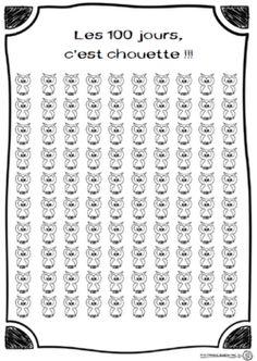 les 100 jours, c'est chouette!!! compter, chaque jour compte, numération, cp, chiffre, dixmois