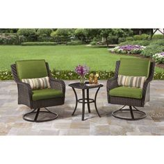 Better Homes and Gardens Amelia Cove 3-Piece Outdoor Bistro Set, Seats 2, Green