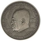 The Juran Medal is presented to the individual who exhibits distinguished performance in a sustained role as an organizational leader: personally practicing the key principles of quality and demonstrating breakthrough management.  Juran founded the Juran Institute in 1979. The Institute is an international training, certification, and consulting company which provides training and consulting services in quality management, Lean manufacturing management and business process management, as…