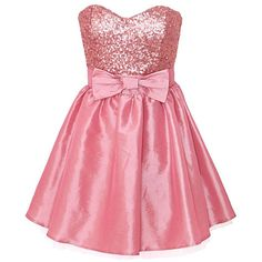 Elise Ryan Pink Bow Prom Dress ❤ liked on Polyvore