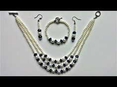 String beads and make a beautiful jewelry set in less than 15 mins. - YouTube