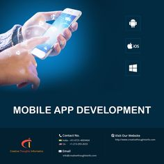 Creative Thoughts Informatics Services Pvt Ltd develops top quality, dynamic and scalable #mobile_apps which lend a hand to grow faster and enhance your #ROI. Get a Quote Now>> http://www.creativethoughtsinfo.com/ #MobileAppDevelopment #AppDevelopmentCompany #CTInformatics
