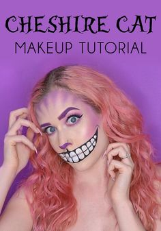 Learn how to create a creepy Cheshire Cat Halloween makeup look with this tutorial!