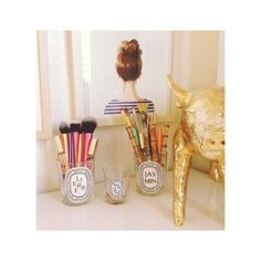 .@lynbacca | Diptyque jars--my favorite way to store pencils, brushes, and even earrings//