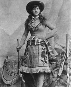 """""""Well behaved women rarely make history"""" -Annie Oakley Here is a woman who learned to shoot better than anyone because of hunger- the mother of invention. Vintage Cowgirl, Cowboy And Cowgirl, Cowgirls, Old West Photos, Into The West, Cowboys And Indians, Real Cowboys, Armada, Le Far West"""