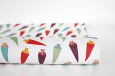 """Gift Wraps - Papeterie. Wrapping paper """"Candy Cone"""", size 50x70 cm, printed on high quality recycled paper. 2,50 € incl. VAT plus shipping costs."""
