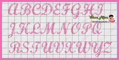 Crochet Alphabet, Cross Stitch Alphabet Patterns, Cross Stitch Letters, Stitch Patterns, Embroidery Stitches, Needlepoint, Bullet Journal, Crafts, Apollo