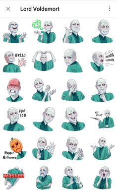 Sticker pack of fictional character Lord Voldemort from Harry Potter Movie Estilo Harry Potter, Arte Do Harry Potter, Harry Potter Disney, Harry Potter Stickers, Harry Potter Cartoon, Snape Harry Potter, Harry Potter Feels, Harry Potter Artwork, Harry Potter Drawings