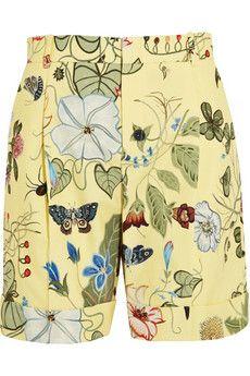 Gucci Printed cotton-canvas shorts | NET-A-PORTER
