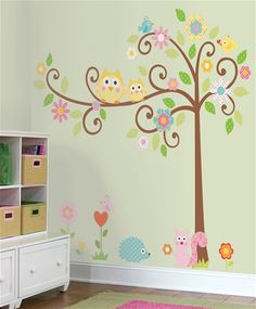 Central has a great way for you to add style to your child's room:RoomMates(shown here in Scroll Tree)!They're easy to use and the best part is you can easily change the decor as your child grows!These repositionable,reusable,removable wall decals have a special adhesive that's strong enough to keep your decor on the wall but delicate enough to allow endless repositioning without damaging the paint or leaving behind a sticky reside.Offered in a wide range of styles and designs! #kidsroom #de...