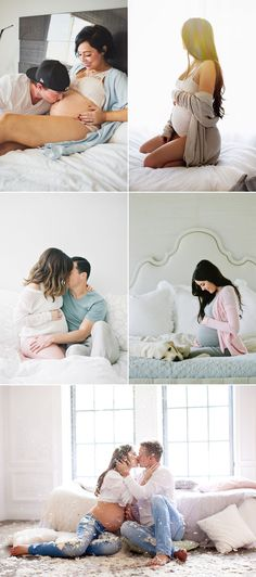 Oh Baby! 34 Beautiful Home Maternity Photos We Love! In The Bedroom