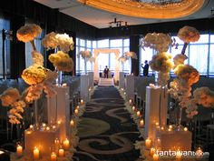 Our wedding ceremony design at Mandarin Oriental Hotel New York. We love it modern and romantic ^_^