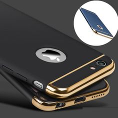 Fashion Women Man Ultra-thin Shockproof Plated Frame Hard PC Back Cover Case for Apple iPhone 6 6S 7 Plus 5s SE Phone Case