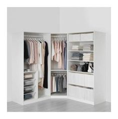 Meubles 038 D coration pin description PAX Armoire-penderie blanc Tyssedal blanc charni res standard 196 cm