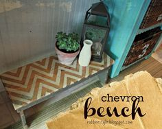 Chevron Painted Bench Restyle